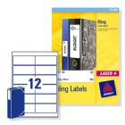 Avery Laser and Inkjet Filing Labels for 60mm Box Files 12 per Sheet 41x100mm Ref L7176-25 [300 Labe